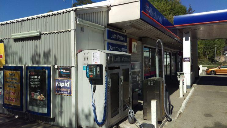 ALF Tronic myntautomat på Gulf-station i Södertälje