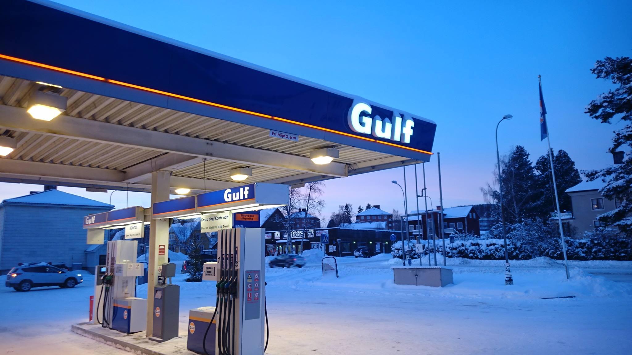 Gulf Ånge i vinterskrud