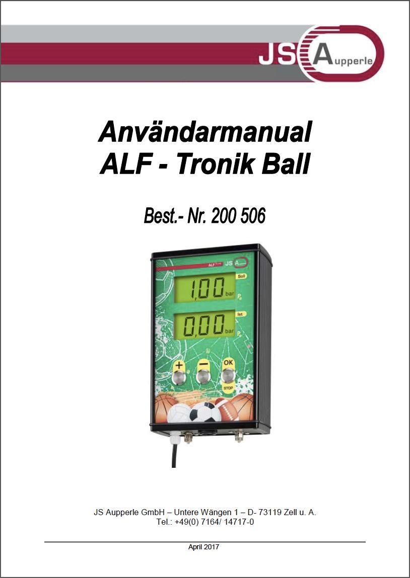 Användarmanual ALF Tronic Sportboll